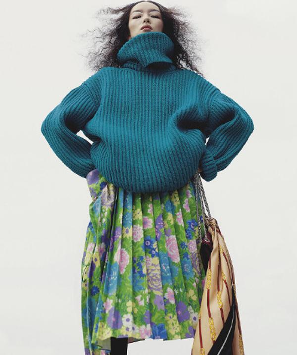 模特孙菲菲Vogue潮流大片 够疯狂才算时尚